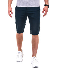 OMBRE Slim Fit-Chino-Shorts Unifarben - Dunkelblau - S