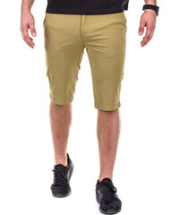 OMBRE Slim Fit-Chino-Shorts Unifarben - Beige - S