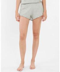Short homewear volanté gris chiné, Femme, Taille L -PIMKIE- MODE FEMME