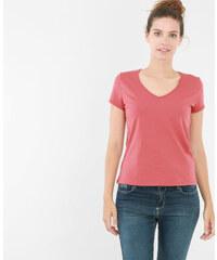 T-shirt basique col V rose, Femme, Taille L -PIMKIE- MODE FEMME