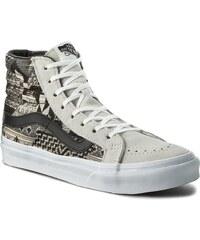 Sneakers VANS - Sk8-Hi Slim VN00018IJR6 Beige Schwarz