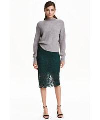 H&M Krajková pouzdrová sukně