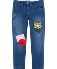 Stella McCartney Kids Girl skinny fit jeans with patches