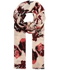 Damen HALLHUBER Schal mit großformatigem Blütendruck HALLHUBER rot