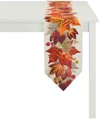 APELT Tischdecke 3306 INDIAN SUMMER orange Tischband, 28/175 cm,Tischläufer, 40/145 cm