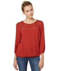 Damen Bluse beautiful blouse with lace Tom Tailor rot 34,36,38,40,42,44,46
