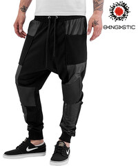 Pantalon de survêtement avec détails en imitation cuir Bangastic