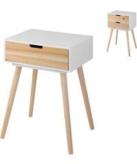 Lesara Table d'appoint avec pieds en bois