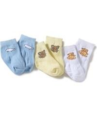 Playshoes Unisex Baby Newborn Socks Animals, 3 Pairs