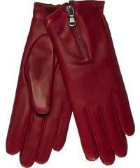 JUNEK Kožené rukavice se zipem