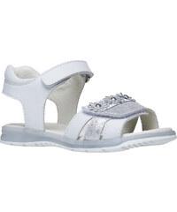 MINI B Bílé kožené sandály