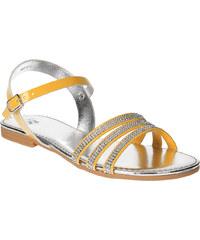 MINI B Dívčí sandály s kamínky