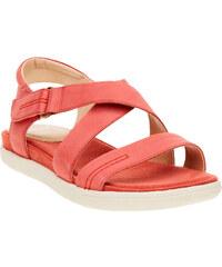 Baťa Dámské červené kožené sandály