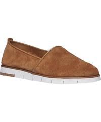 FLEXIBLE Kožené Slip-on boty s perforací