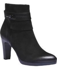 Baťa Kožená kotníčková obuv na podpatku