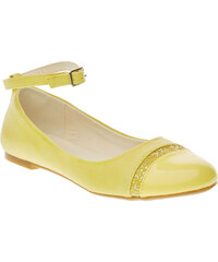 MINI B Žluté baleríny s páskem