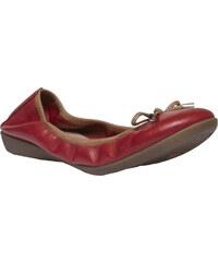 Baťa Červené kožené baleríny