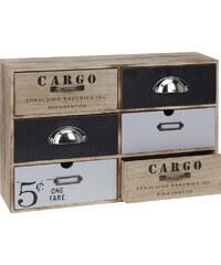 Lesara Mini-Kommode mit 6 Schubladen