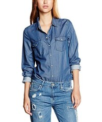 VERO MODA Damen Bluse Vmdaisy Denim Shirt Mb Noos