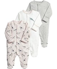 Mamas & Papas Baby-Mädchen Strampler and 3 Pack Sparrow All in One, 3er