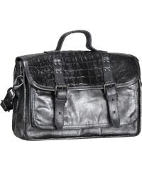 Mjus Kožená kabelka ve stylu aktovky