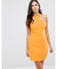 Adelyn Rae - Minikleid mit überkreuztem Ausschnitt - Gelb