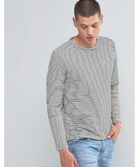 Another Influence - T-shirt à manches longues et empiècement à rayures - Beige