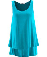 bpc bonprix collection Top double épaisseur bleu sans manches femme - bonprix