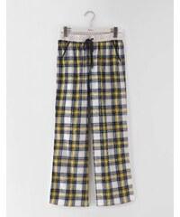 Gewebte Pyjamahose Gelb Damen Boden