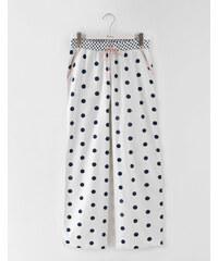 Gewebte Pyjamahose Gepunktet Damen Boden