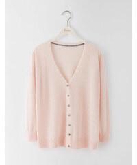 Feiner Merinocardigan Pink / Hautfarben Damen Boden
