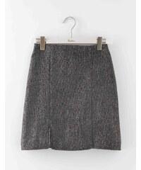 Minirock aus britischem Tweed Grau Damen Boden