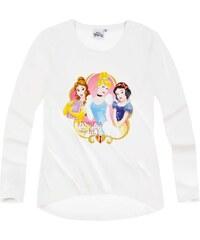 Disney Princess Langarmshirt weiß in Größe 92 für Mädchen aus 100% Baumwolle