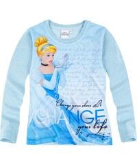 Disney Princess Langarmshirt hellblau in Größe 92 für Mädchen aus Vorderseite: 100% Polyester 100% Baumwolle