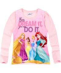 Disney Princess Langarmshirt rosa in Größe 92 für Mädchen aus Vorderseite: 100% Polyester 100% Baumwolle