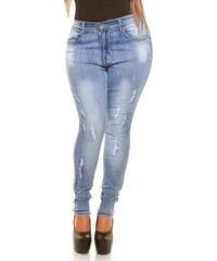 Koucla Stylové dámské džíny Plus size