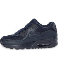 Nike Baskets/Running Air Max 90 Mesh Junior Bleu Marine Enfant