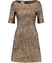 Baum und Pferdgarten Cocktailkleid / festliches Kleid gold