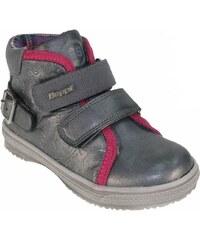 Beppi Dívčí kotníkové boty - stříbrnošedé