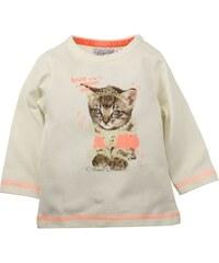 Dirkje Dívčí tričko s kočičkou - bílo-oranžové