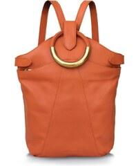 Gretchen Maple Metal Rucksack - Pumpkin Orange/Gold