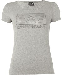 EA7 Emporio Armani T-Shirt mit Logo in Metallicoptik