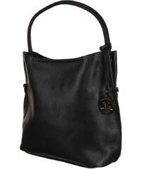 YooY Zajímavá dámská kabelka s přívěskem černá