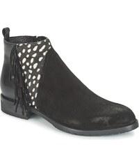 Meline Boots VELOURS NERO PLUME NERO