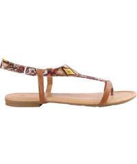 Lesara Zehentrenner-Sandale mit Azteken-Muster - Camel - 36