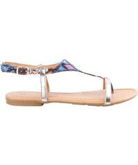 Lesara Zehentrenner-Sandale mit Azteken-Muster - Blau - 36