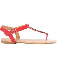 Lesara Zehentrenner-Sandale mit Nieten-Details - Rot - 36
