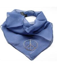 Guess hedvábný šátek s aplikací