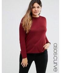 ASOS CURVE - Pullover mit Rundhalsausschnitt - Rot
