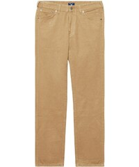 GANT Jean Regular Straight En Sergé Doux - Warm Khaki